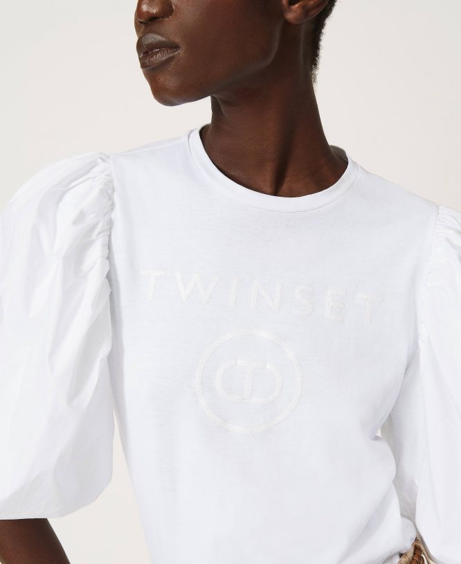 T-SHIRT ΜΕ ΛΟΓΟΤΥΠΟ (ΛΕΥΚΟ) TWINSET T-SHIRTS 9