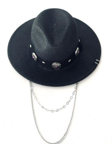 BLACK W/PURPLE BUTTONS AND CHAIN ΚΑΠΕΛΟ KAMAR ΠΡΟΣΦΟΡΕΣ