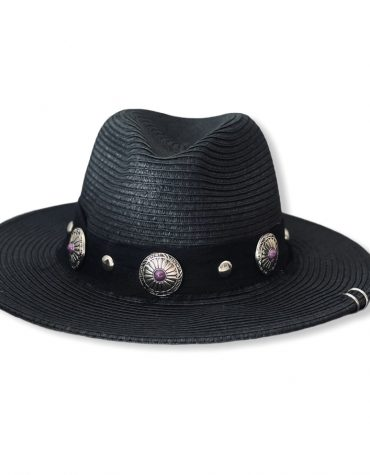 BLACK W/PURPLE BUTTONS AND CHAIN ΚΑΠΕΛΟ KAMAR ΠΡΟΣΦΟΡΕΣ 2