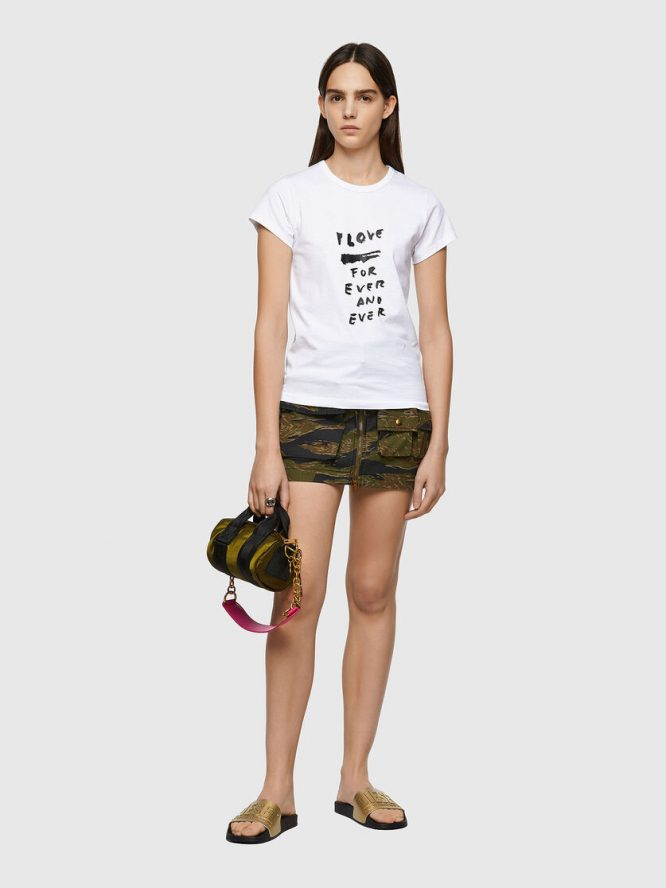 T-SHIRT ΜΕ ΕΚΤΥΠΩΣΗ LOVE FOR EVER DIESEL T-SHIRTS 10