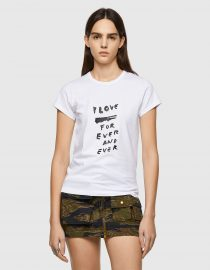 T-SHIRT ΜΕ ΕΚΤΥΠΩΣΗ LOVE FOR EVER DIESEL T-SHIRTS 5