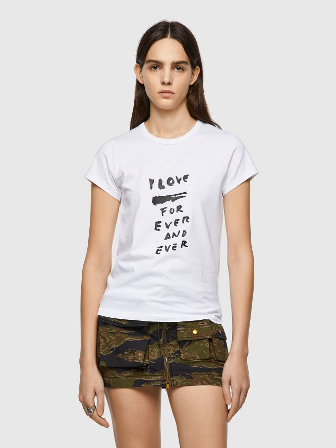 T-SHIRT ΜΕ ΕΚΤΥΠΩΣΗ LOVE FOR EVER DIESEL T-SHIRTS 7