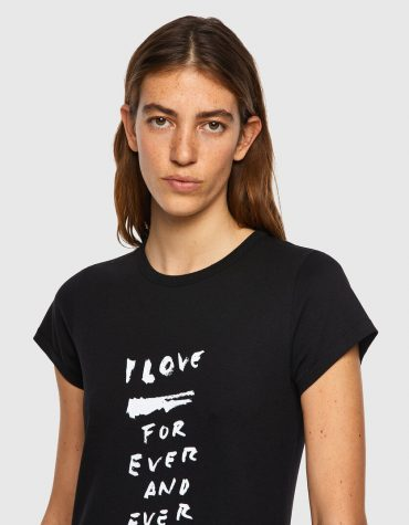 T-SHIRT ΜΕ ΕΚΤΥΠΩΣΗ LOVE FOR EVER DIESEL T-SHIRTS 2