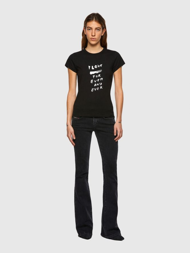 T-SHIRT ΜΕ ΕΚΤΥΠΩΣΗ LOVE FOR EVER DIESEL T-SHIRTS 9
