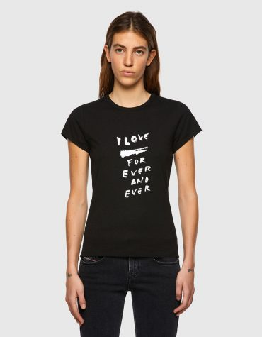 T-SHIRT ΜΕ ΕΚΤΥΠΩΣΗ LOVE FOR EVER DIESEL T-SHIRTS